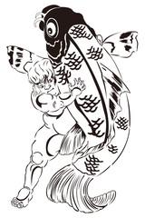 歌川国芳 坂田怪童丸のイメージイラスト