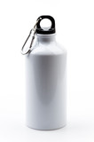 Stainless bottle water isolated white background