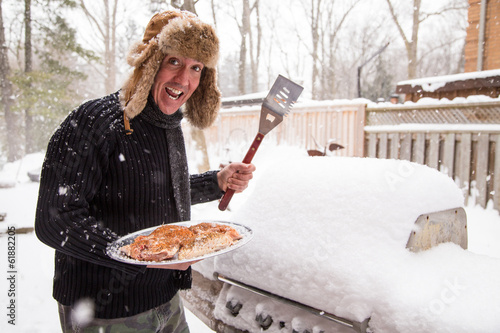 Happy winter griller