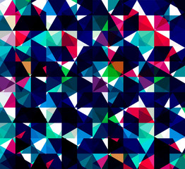 Geometric retro pattern colorful mosaic background  vector