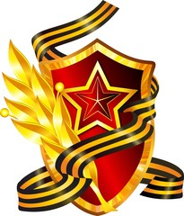 Красный щит со звездой
