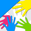 Vector Colorful Hands