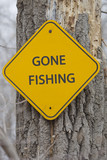 Free Fishing Day Sign on a tree