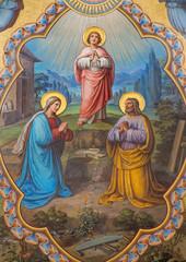Vienna - Holy Family fresco - presbytery of Carmelites church