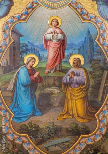 Fototapeta Vienna - Holy Family fresco - presbytery of Carmelites church