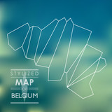 Stylized map of Belgium
