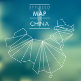 Stylized map of China