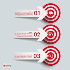 3 Paper Cut Arrow 3 Targets