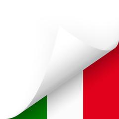 Papier - Ecke unten - Länderflagge Italien