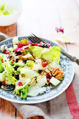 fresh fruit salad with lettuce
