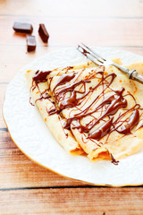 crepe with a delicious chocolate
