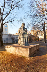 Monument to Lithuanian writer Zemaite. Vilnius, Lithuania