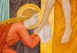 Vienna -  Mary Magdalen fresco  in Carmelites church