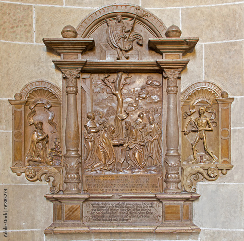 Vienna - stone relief from Church of the Teutonic Order