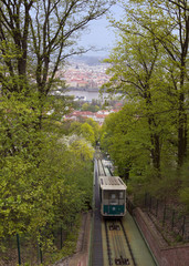 Petrin funicular of Prague