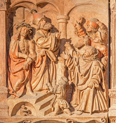 Vienna - relief judgment of Jesus from St. Stephens cathedral