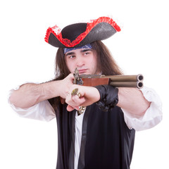 Pirate with a gun on hand
