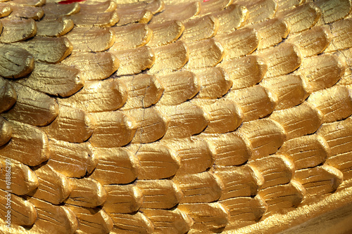 Golden scales texture