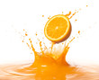 canvas print picture - orange splash