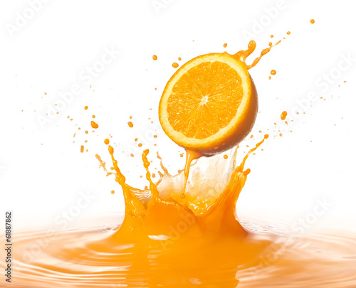 canvas print picture orange splash