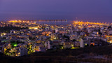 Rethymno harbor at twilight, island of Crete