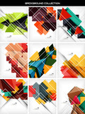 Collection of geometric shape abstract backgrounds