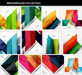 Fototapety Collection of geometric shape abstract backgrounds