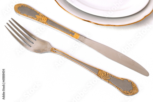 dining set tools isolated on a white background