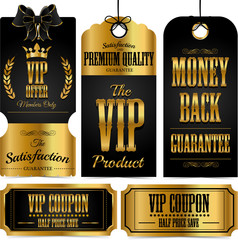 Vip set of tags and coupons