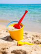 Beach bucket with spade