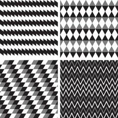 vector set geometric seamless background