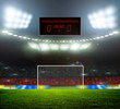canvas print picture - Stadium lights
