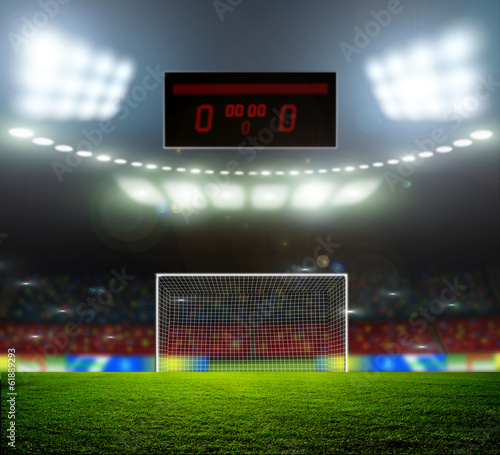 canvas print picture Stadium lights