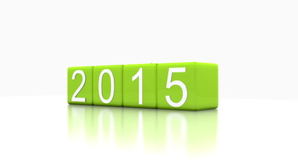 3D Video - dice with the new year, 2015