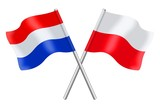 Fototapety Flags : the Nederlands and Poland