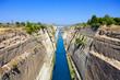 Leinwanddruck Bild - Corinth canal