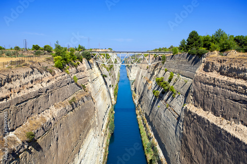 Foto op Canvas Kanaal Corinth canal