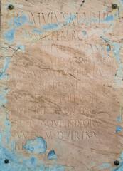 Ancient Roman Plaque in Pompeii