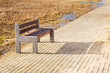Bench at Baltic sea pathway in Gdansk, Poland