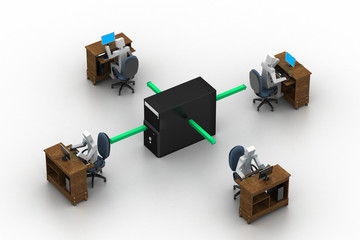 Computer network. Conceptual image
