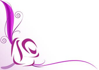 Sfondo decorazione rosa stilizzata