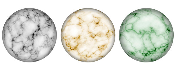 Set of Marble Spheres