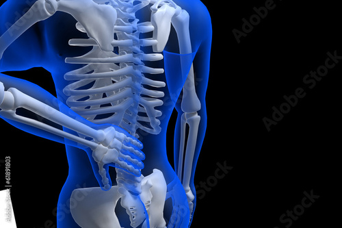 3d rendered illustration - backache