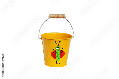 yellow bucket child