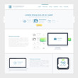 Website design Template with icons