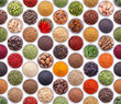 canvas print picture - Seamless texture with spices and herbs