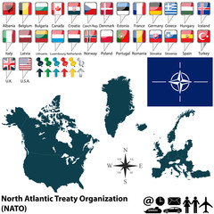 Map on NATO