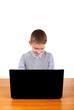 Kid working on Laptop