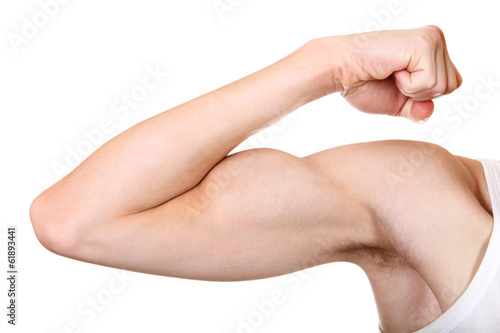 Muscle Flexing closeup