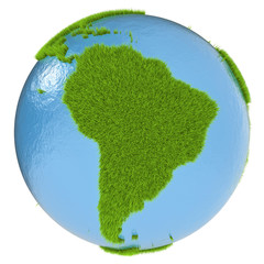 South America on green planet